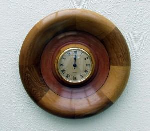 Mahogany & Iroco clock